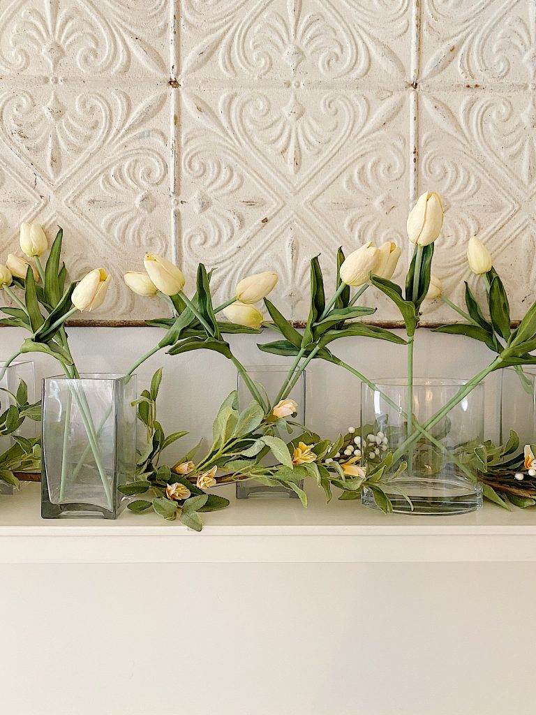how to make a faux flower garland