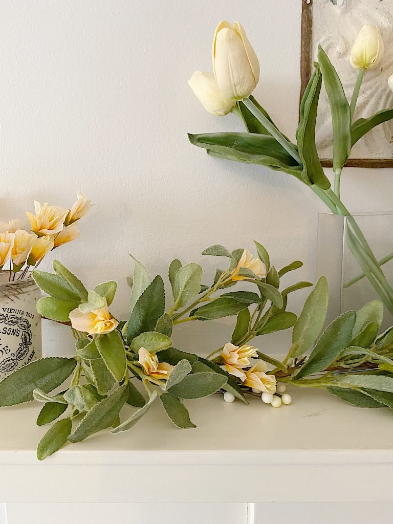 how to make a spring garland with paper flowers