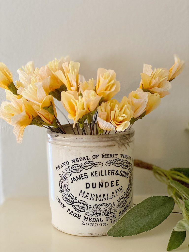 paper freesia flowers
