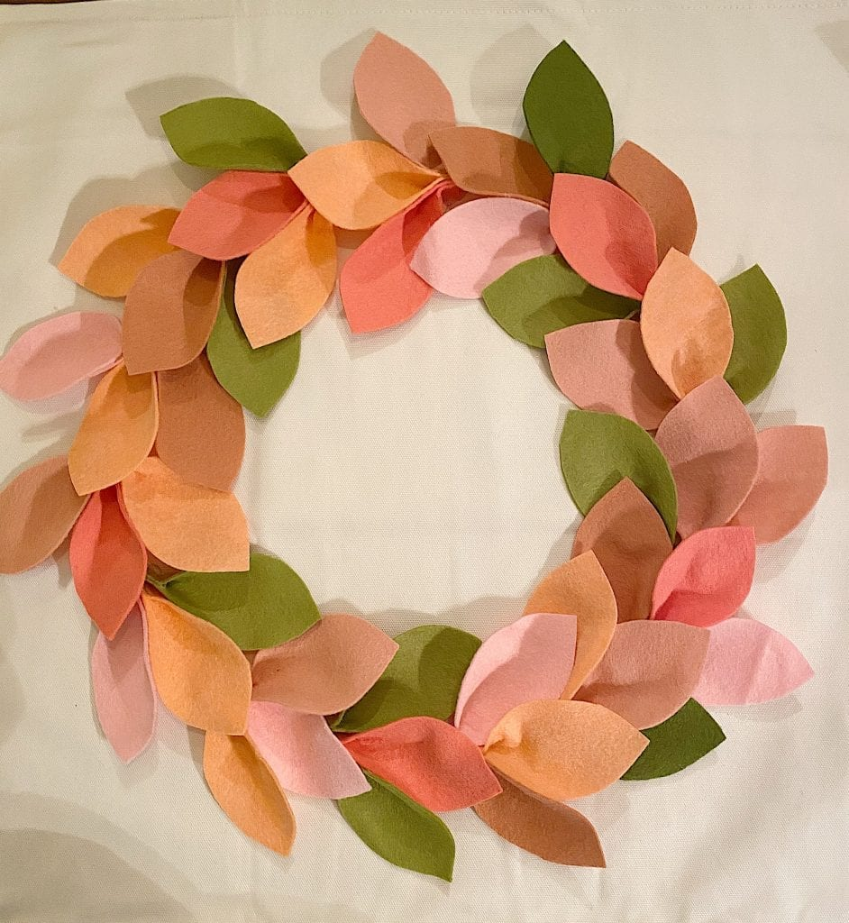 DIY Crafts Felt Wreath