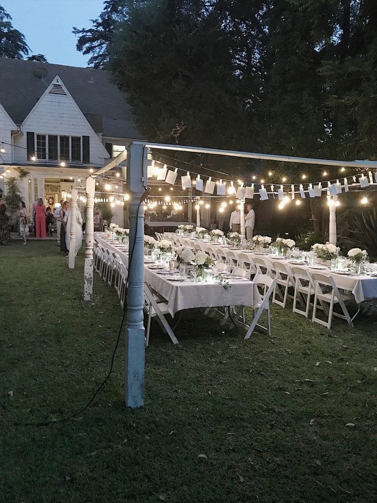 Dining at the Engagement Party