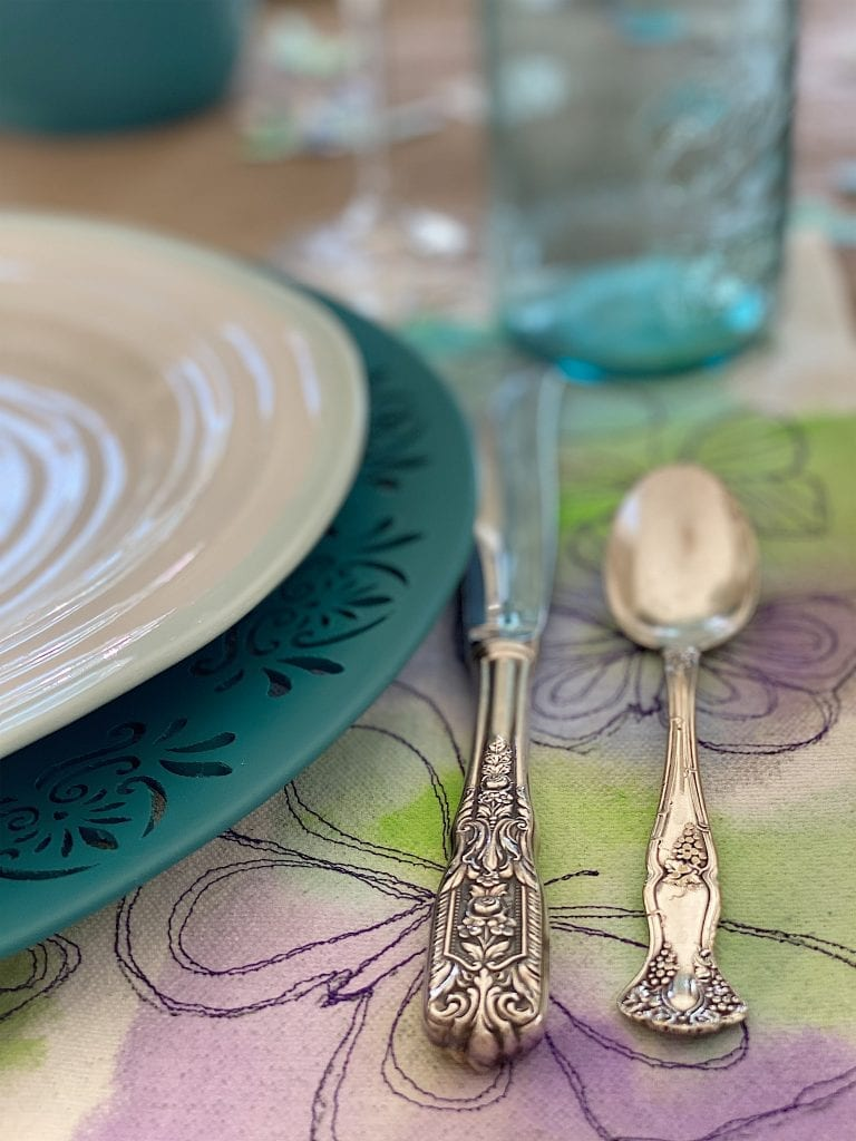 Free Motion Embroidery Placemats