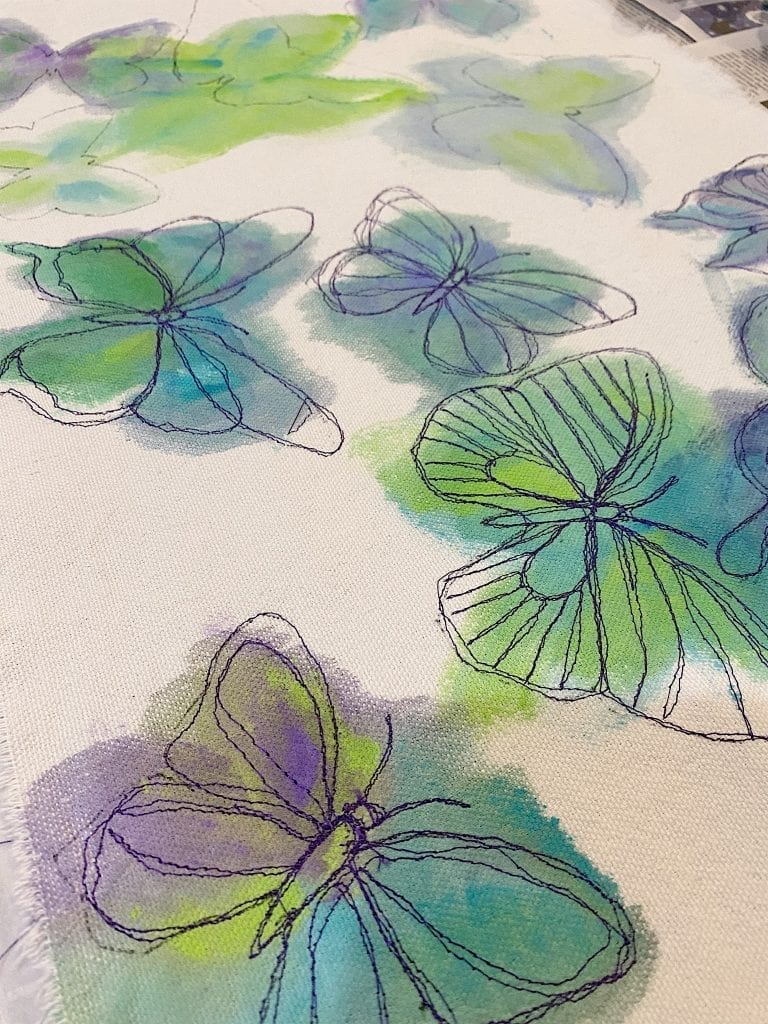 Free Stitch Embroidery Placemats