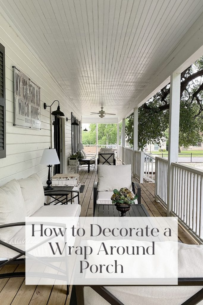 How to Decorate a Wrap Around Porch