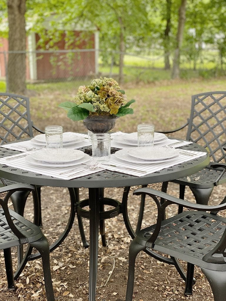 Outdoor Dining Under the Tree