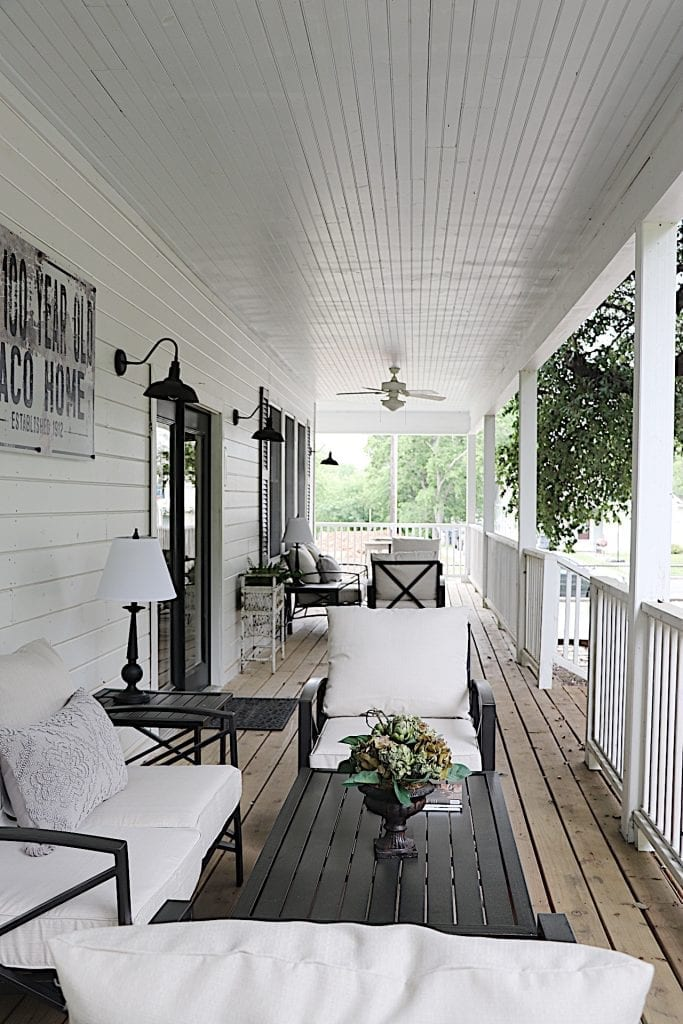 Furniture on the Warp Around Porch