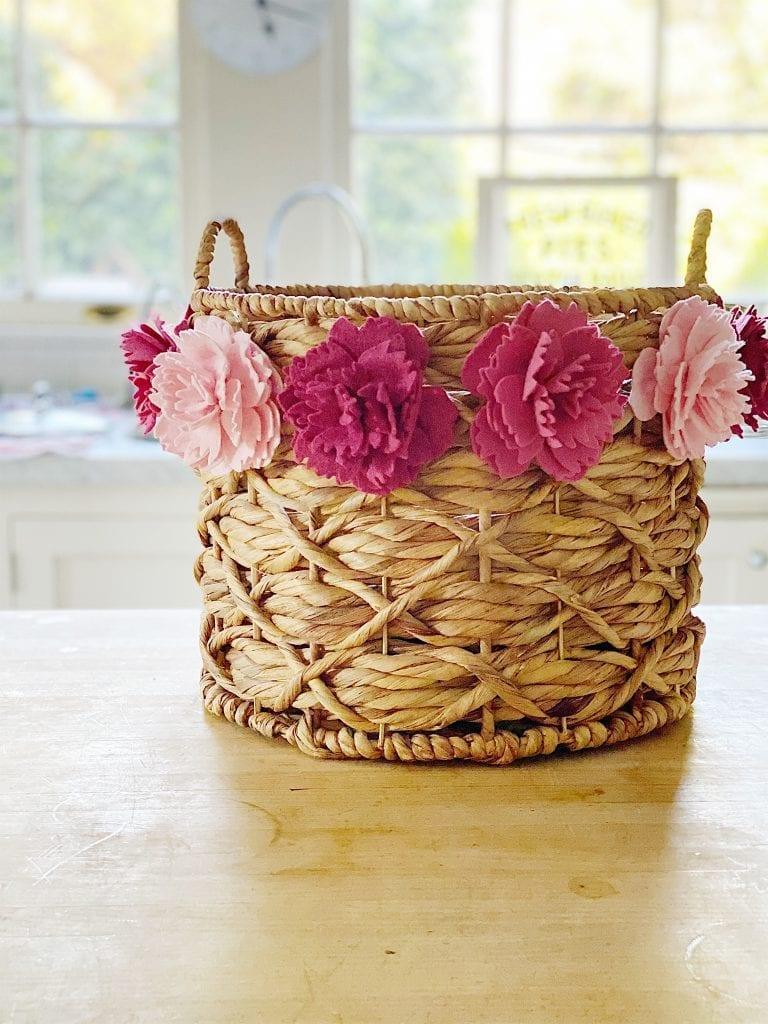 Peonies on Basket