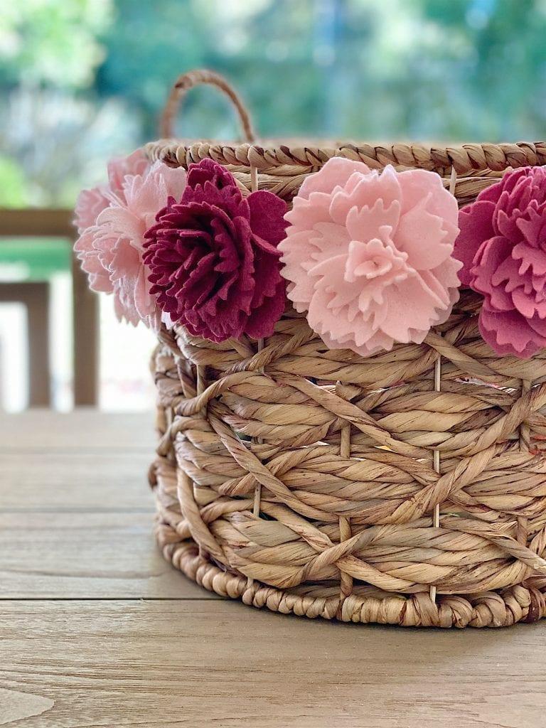 Peony Flower Basket DIY