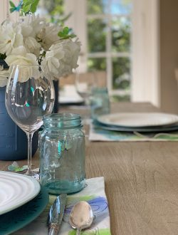 Spring Table with Butterflies