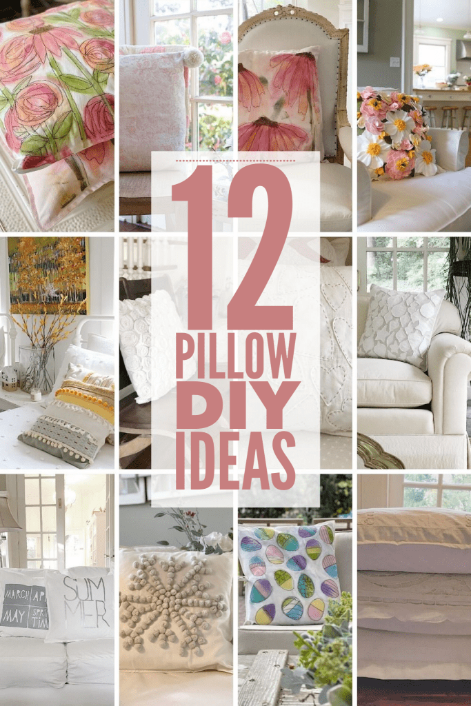 Twelve Pillow DIY ideas