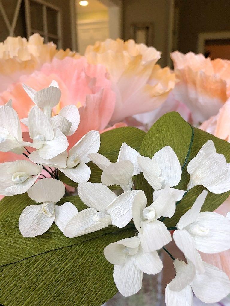 paper flowers for rehearsal dinner