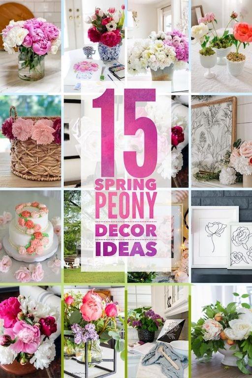 spring peony decor ideas