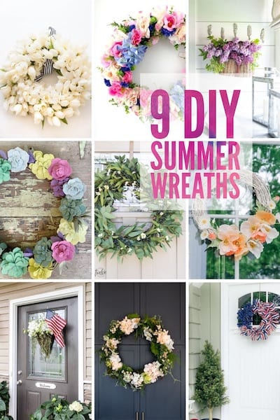 9 DIY Summer Wreaths