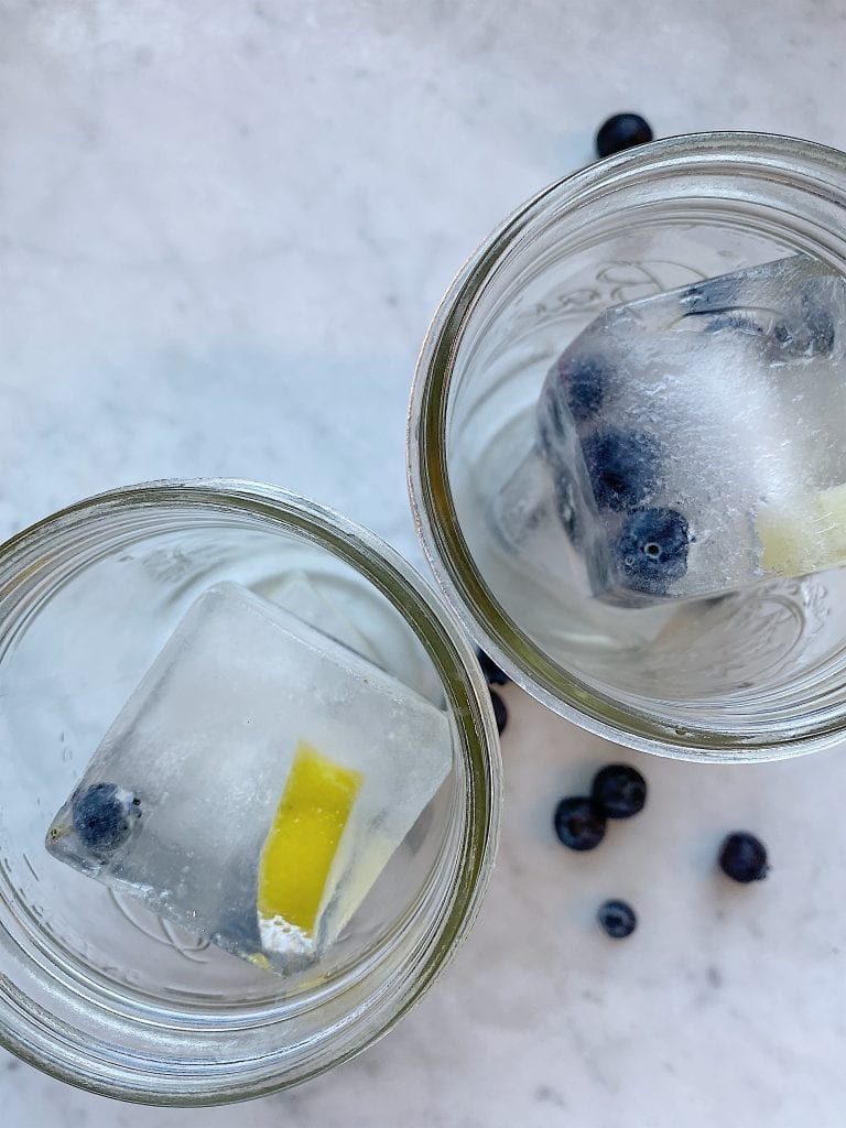 Blueberry Lemon Ice Cubes