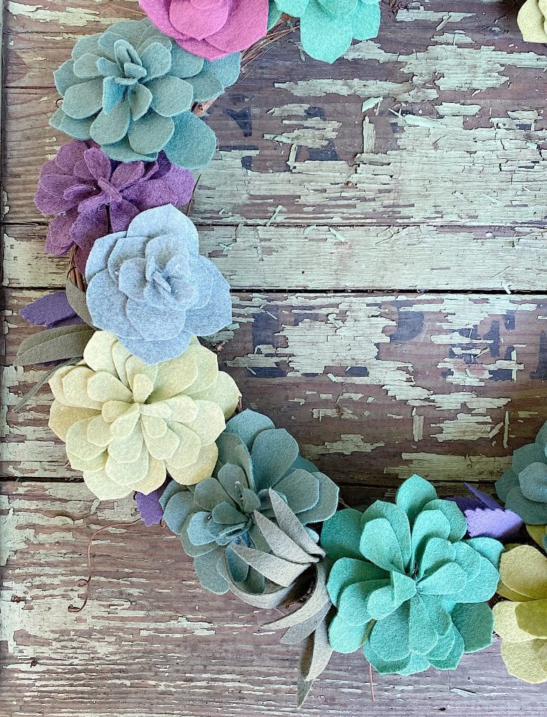 Felt Succulent Wreath