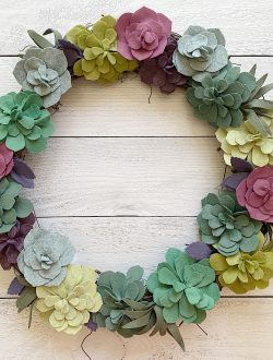 Felt Wreath Colorful