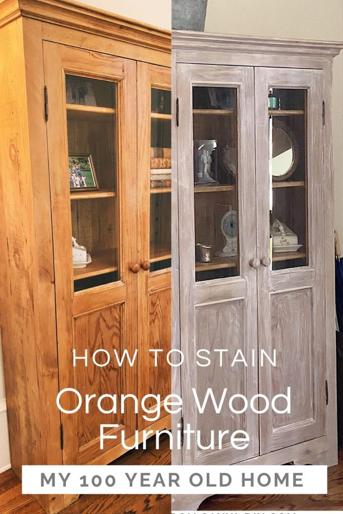 How To Stain Orange Wood Furniture My 100 Year Old Home