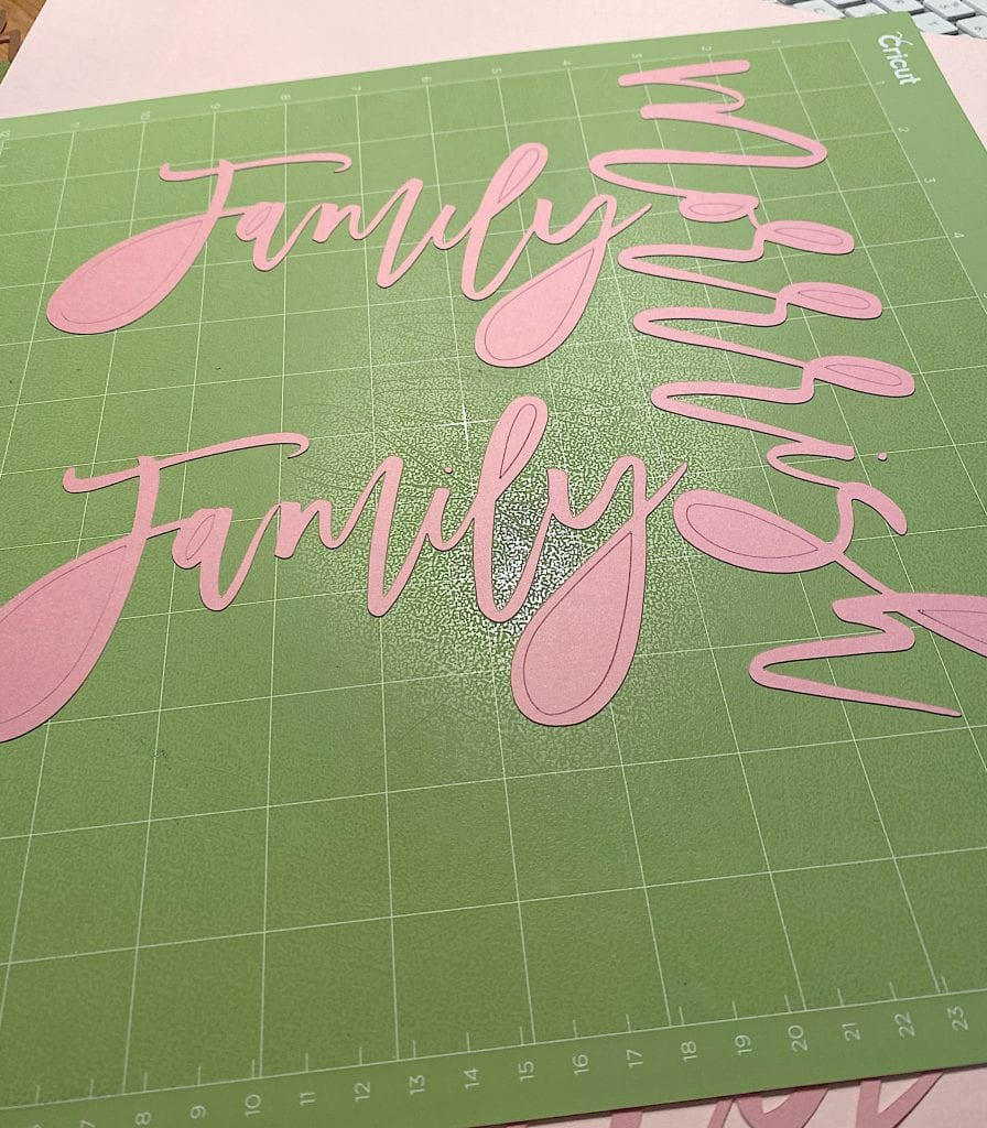 Making Cricut Place Cards