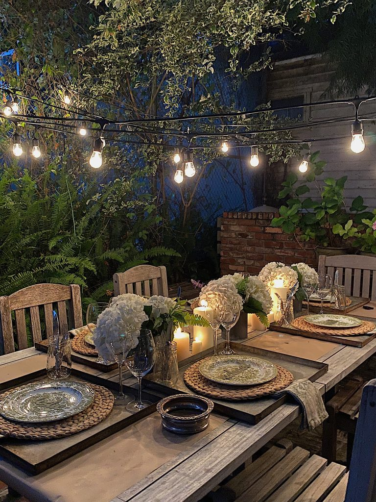 Dining in the Backyard