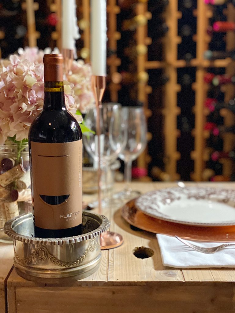Flat Top Hills Wine at Dinner