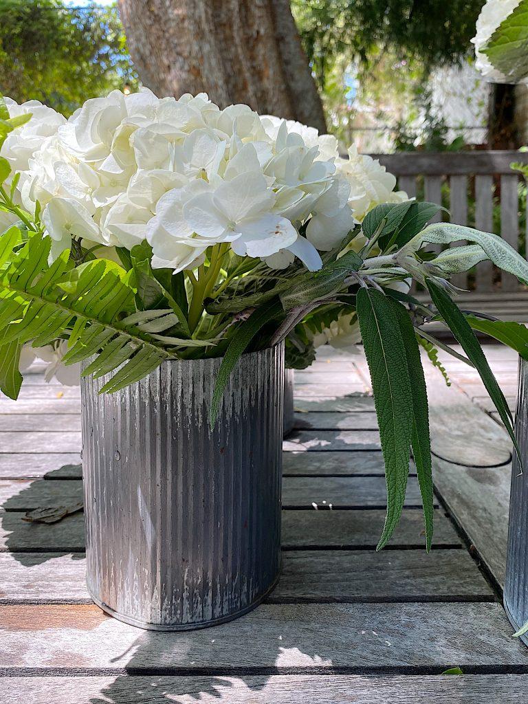 Flower Arranging with Hydrangeas