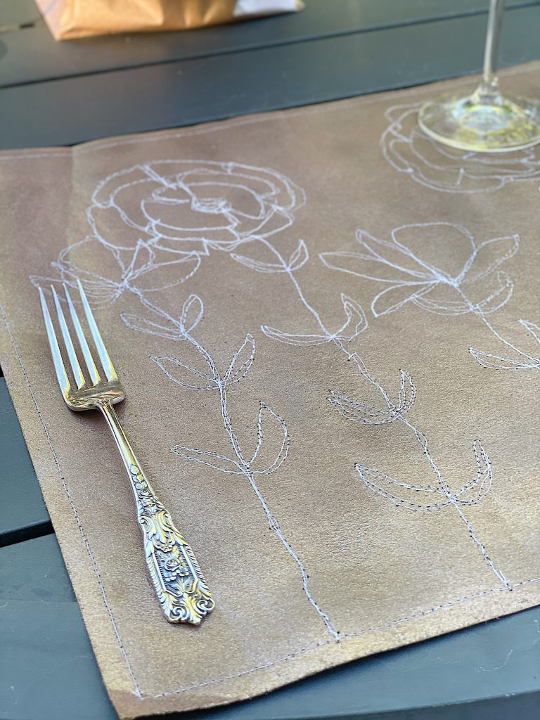Free Embroidery Stitched Placemats