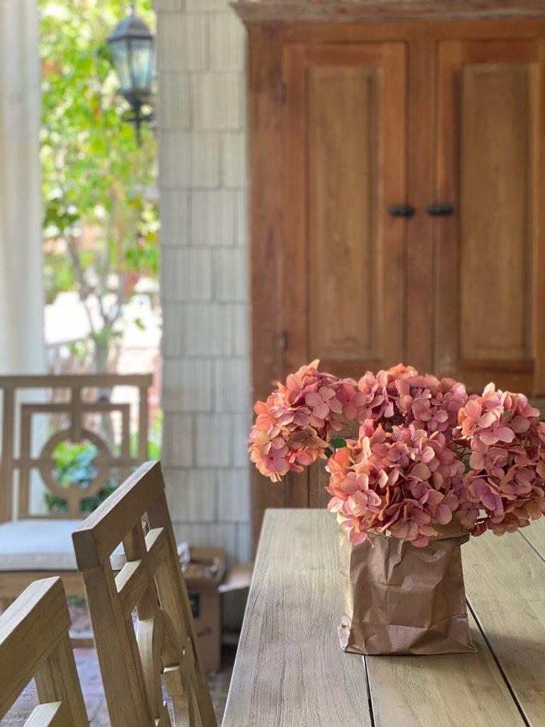 Hydrangea Flowers on the Porch