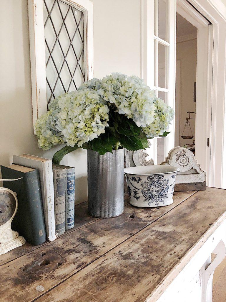 Light Green Hydrangea Flowers