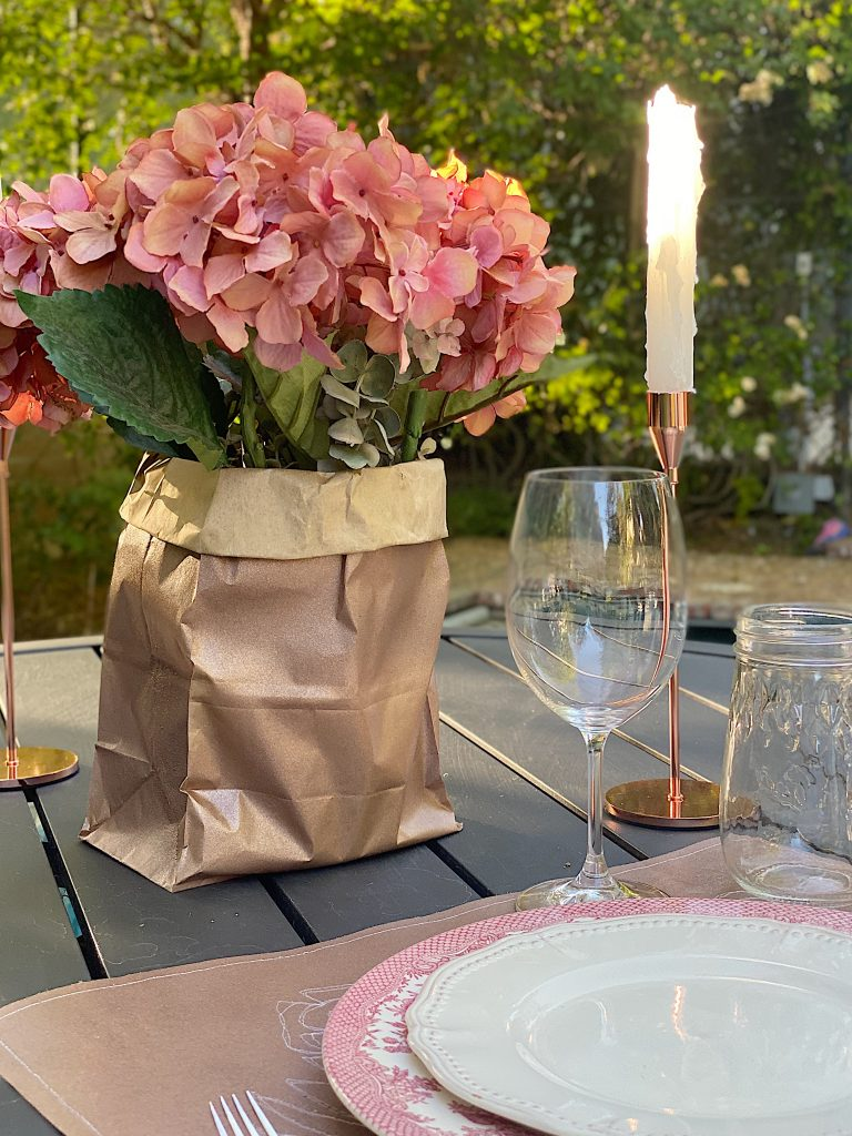 Setting the Table with Brown Paper Bags
