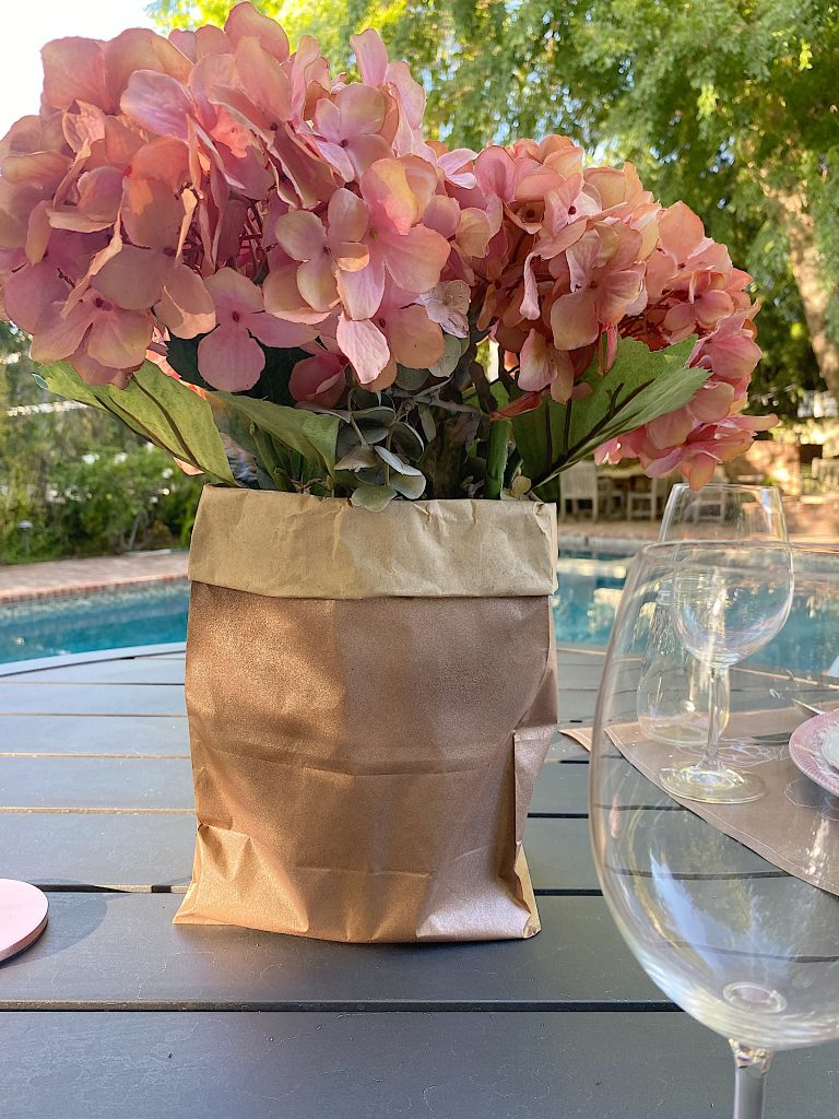 Spray Painted Brown Paper Bags