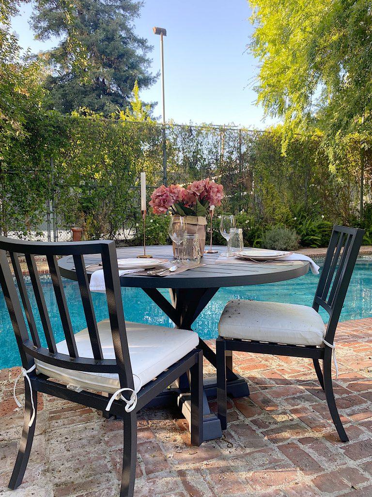 Summer Dinner Poolside