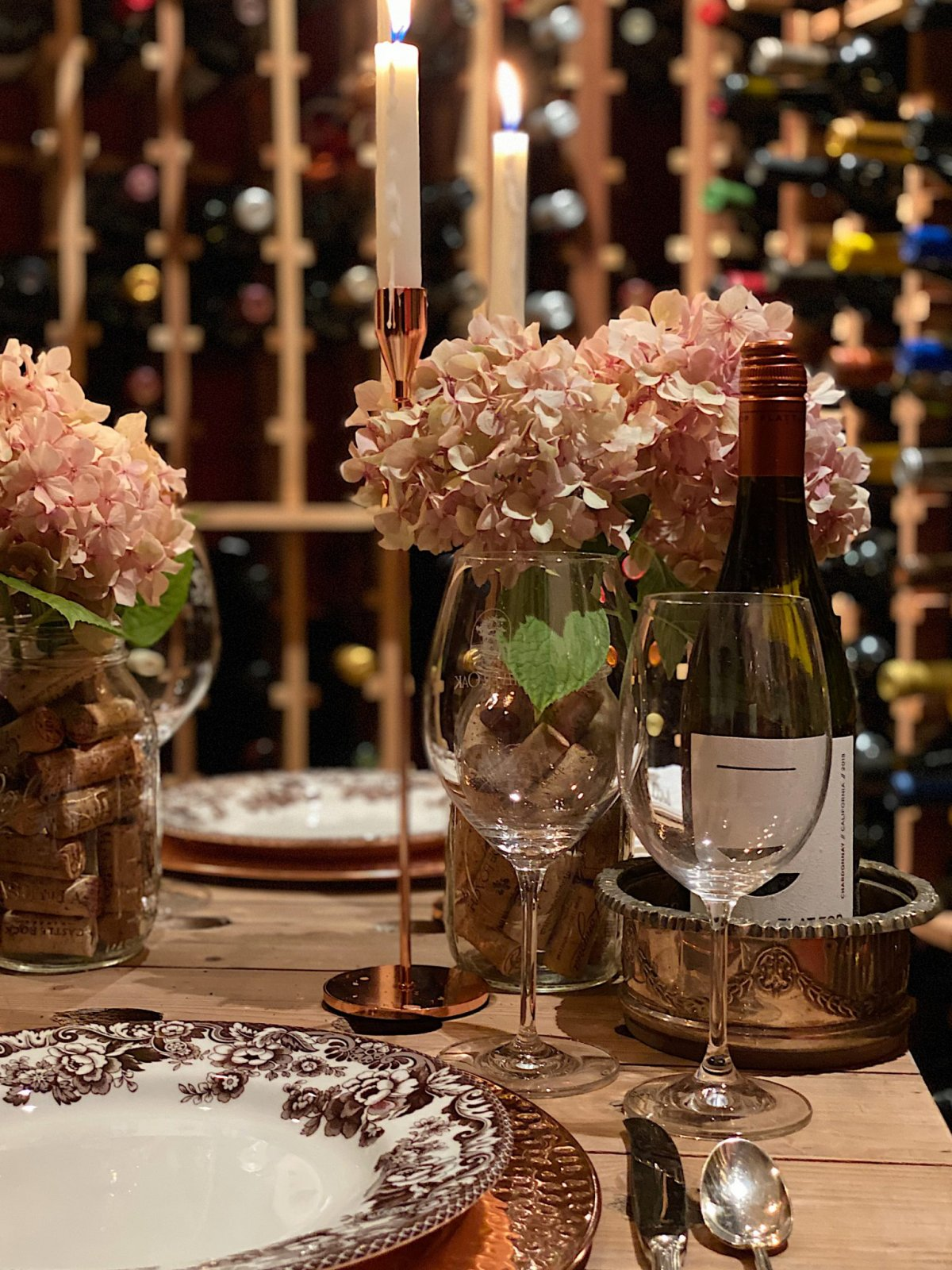 Table Set in the Wine Cellar