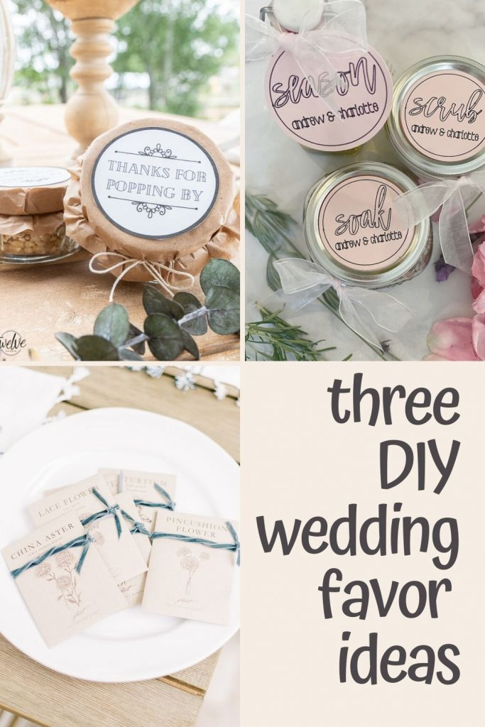 Three DIY Wedding Favor Ideas