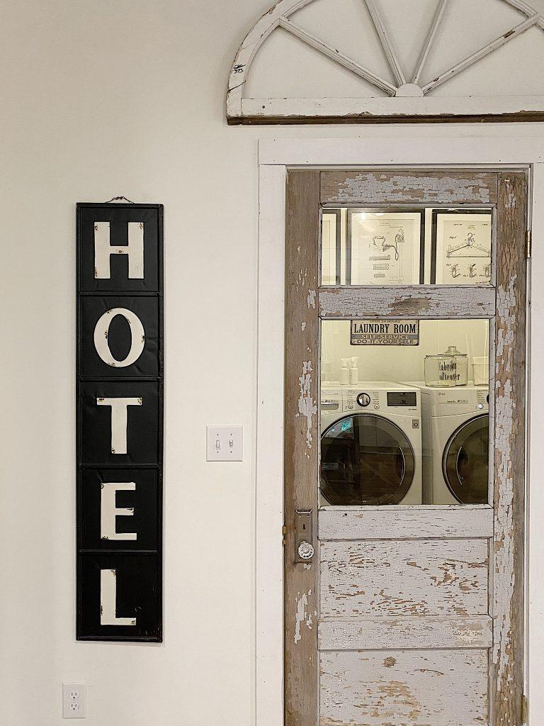 Vintage Laundry Room Door