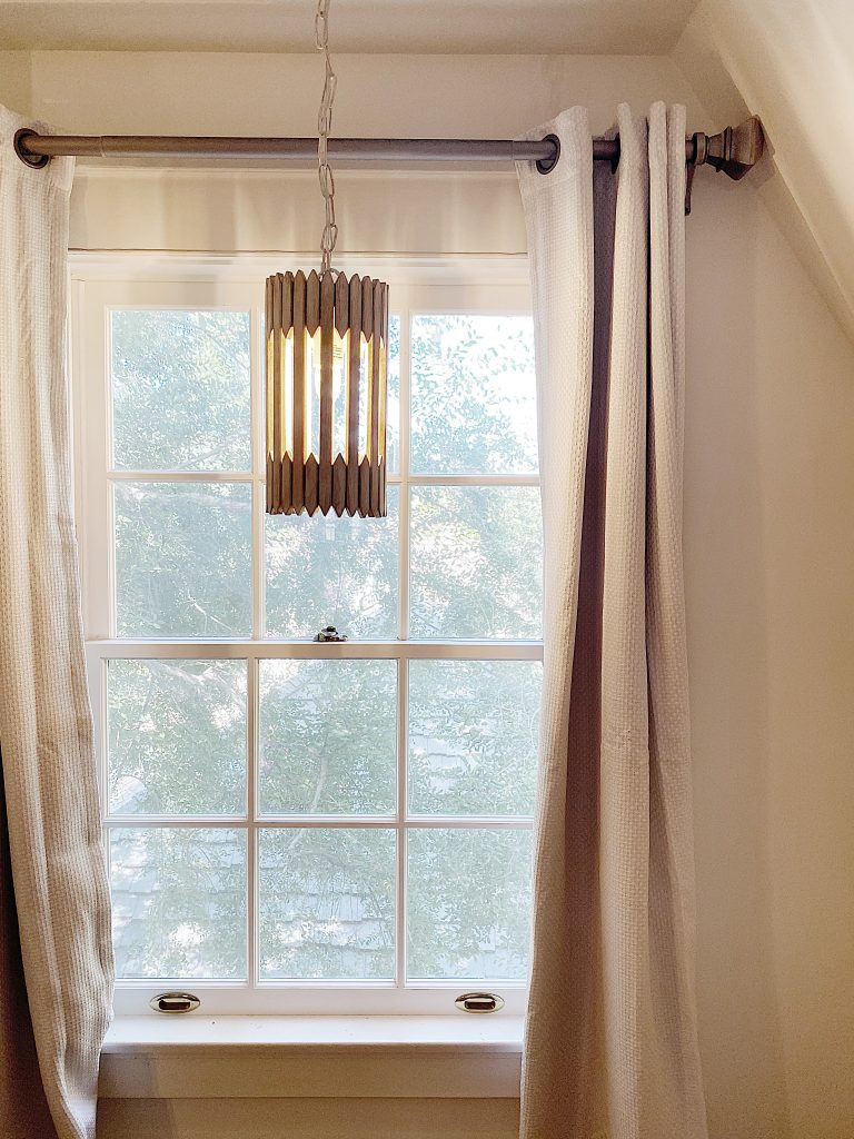 Bedroom Makeover Window Chandelier