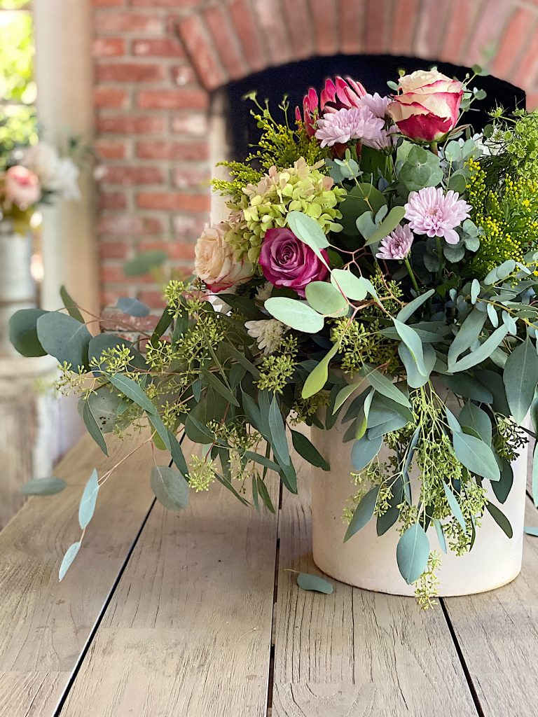 Centerpiece for Outdoor Table
