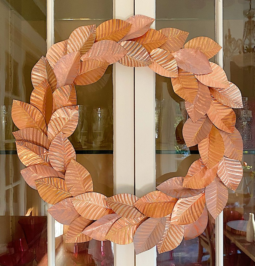 DIY Copper Wreath