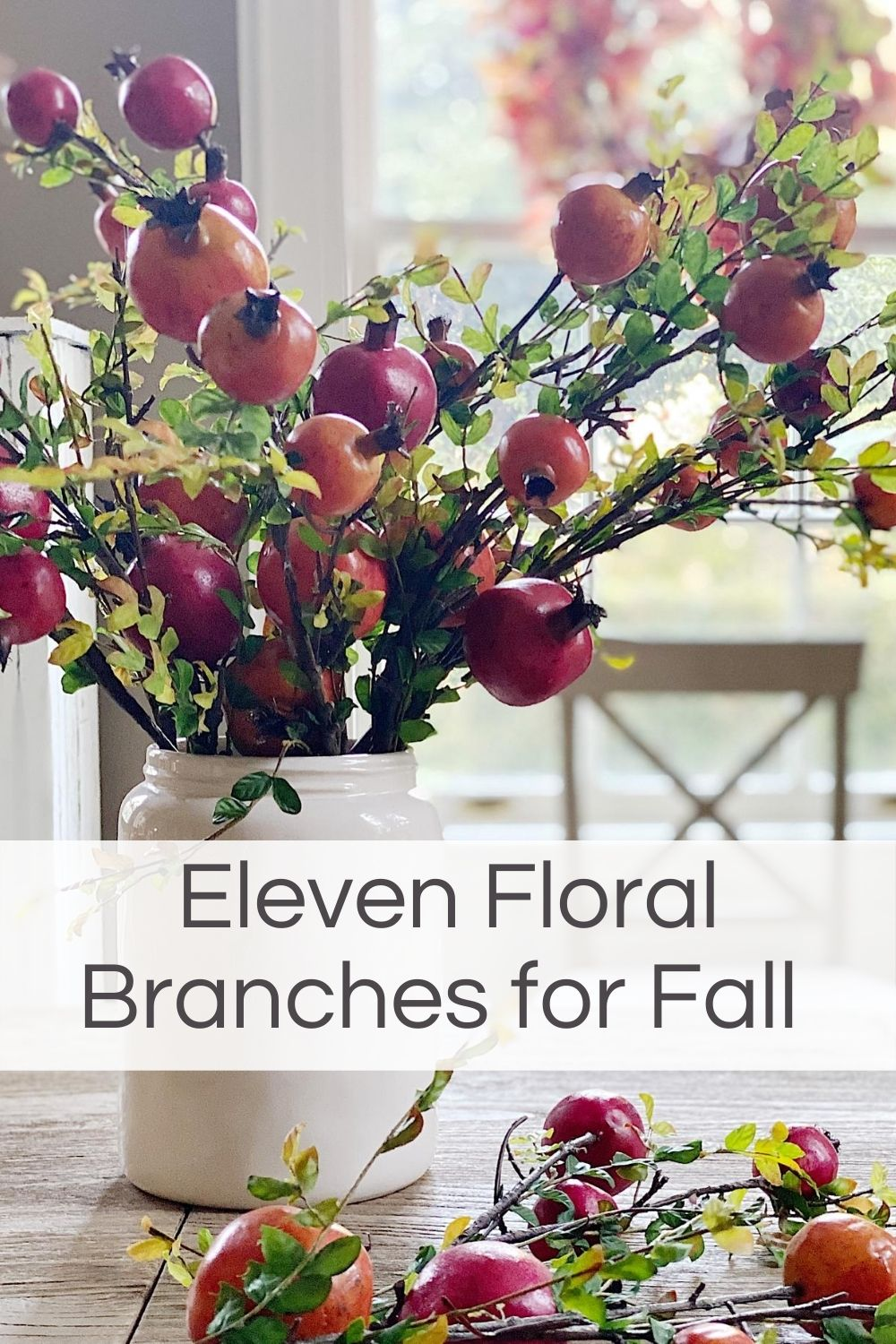 I love decorating for fall with floral branches. Today I am sharing eleven of my favorite fall florals and some great fall decorating ideas.