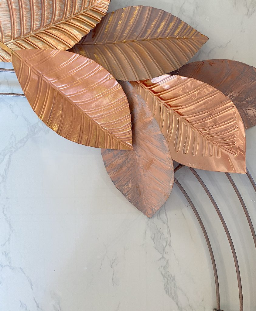 Gluing the Copper Leaves