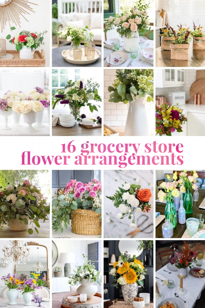 Grocery Flowers Collage