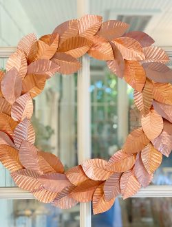 Handmade Copper Wreath