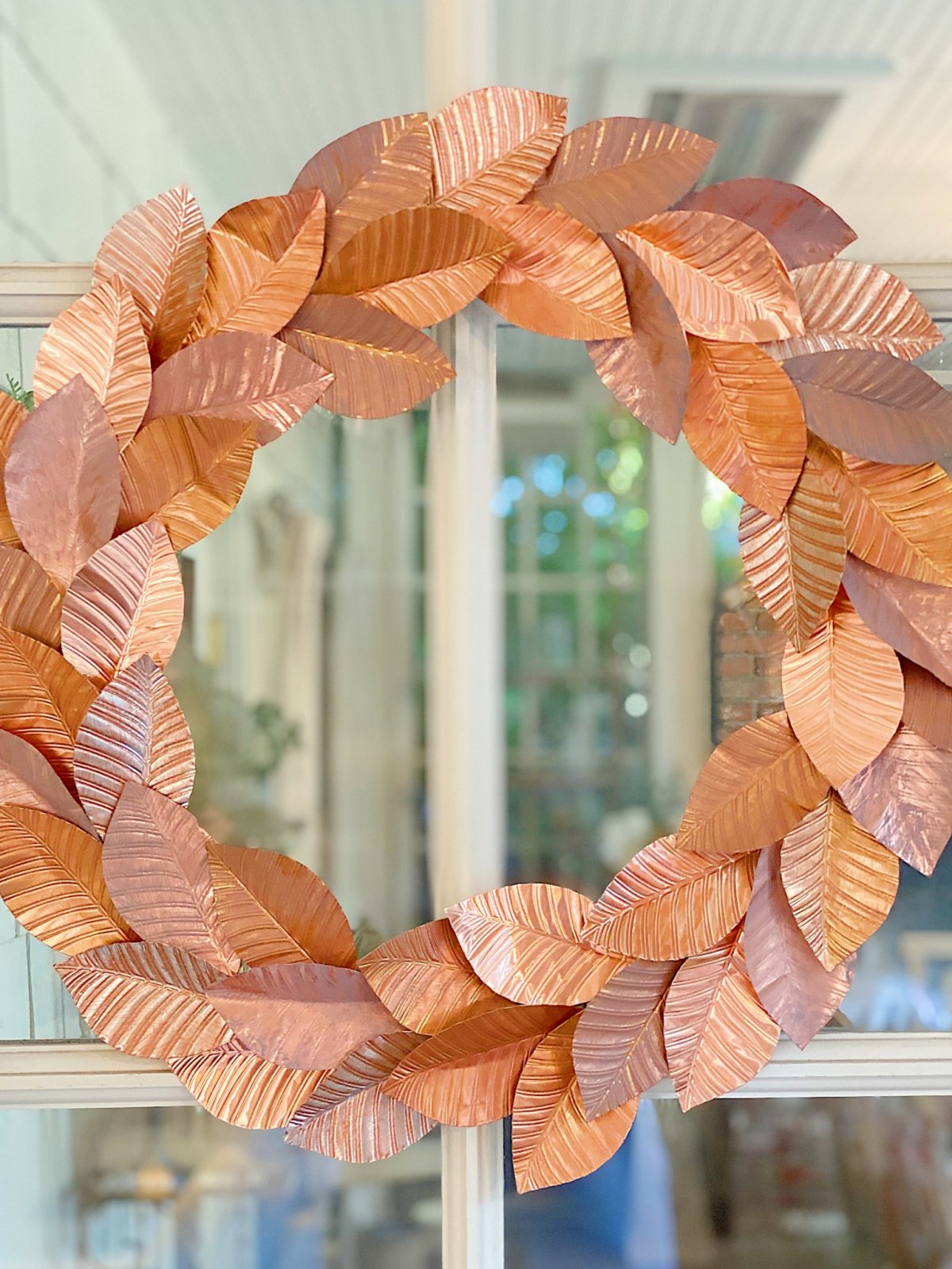 Handmade Copper Wreath