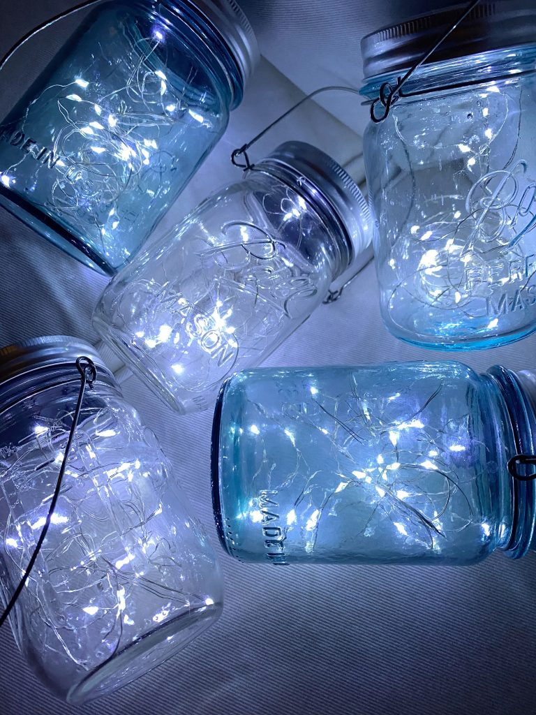 Hanging Solar Ball Jars