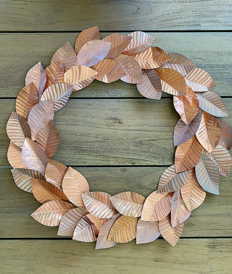 How to Make a Copper Leaf with Cricut