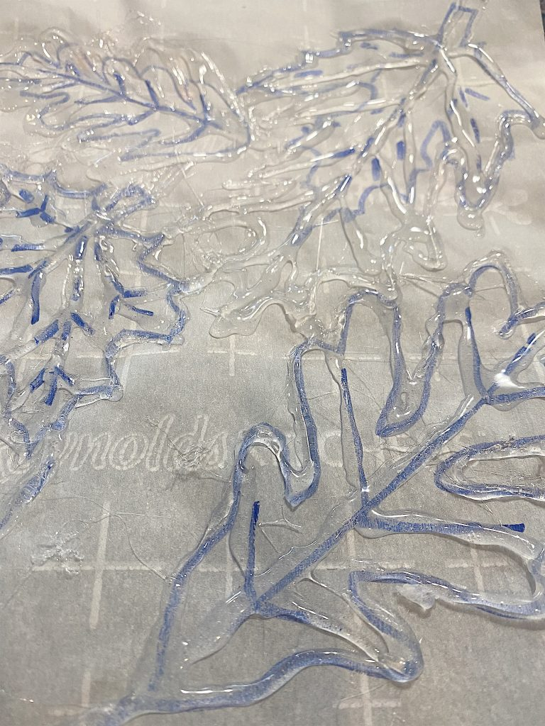 Making the Stencil with Glue