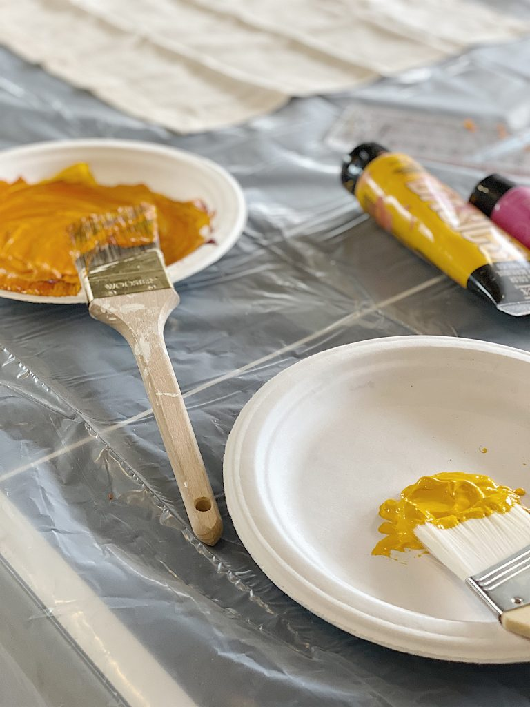 Mixing Paint for the Stencil