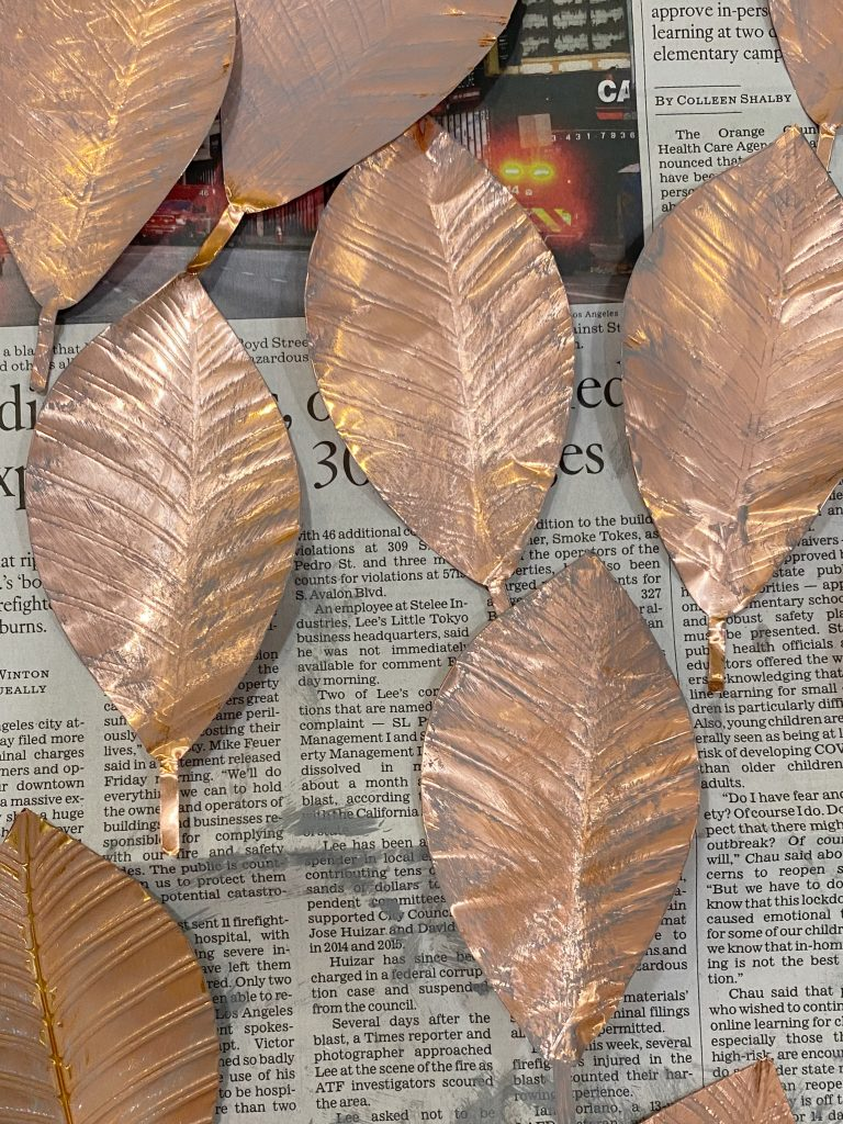 Painting the Copper Leaves