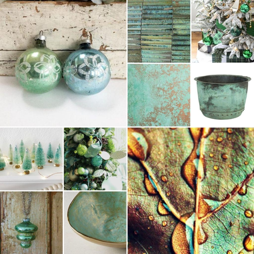 Patina Green Christmas Color Palette