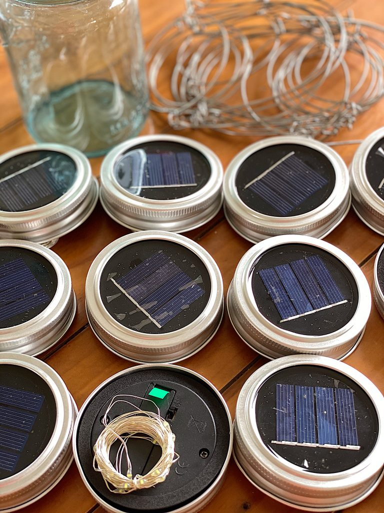 Solar Light Lids for Mason Jars