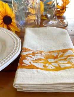 Sunflower Painted Napkins